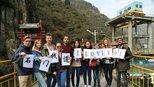 6大洲35个国家的留学生游汉中  美人美景美不胜收