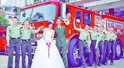 丈夫没空回厦婚纱照在消防队拍 军嫂深情告白引关注