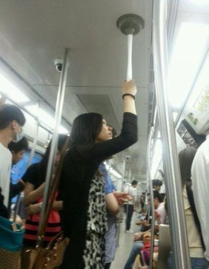 Girl please don't take the subway as your home toilet?