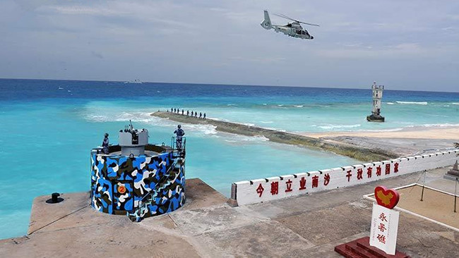 美称中国在南海3岛礁建成机库 可停任何军机
