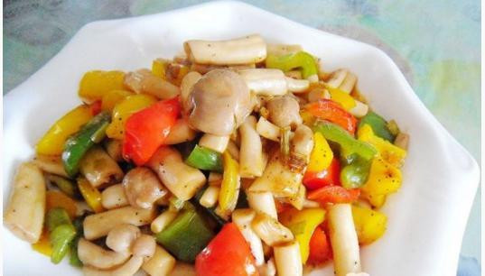 Pepper: pepper sauce with mushroom seafood cooked dishes