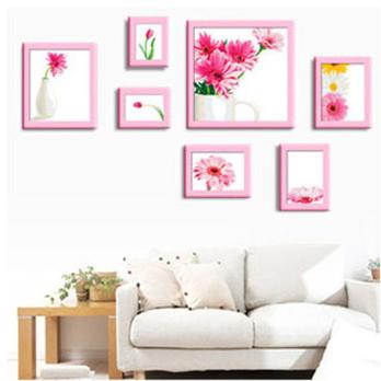 印布十字绣 花卉客厅照片墙
