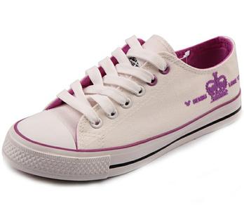 奔步夏季低帮帆布鞋 简约百搭系带女鞋