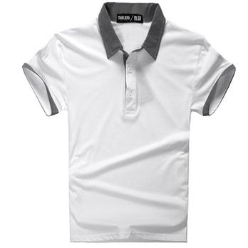 013夏季新品男士韩版撞色短袖T恤男商-短袖T恤男 t恤 内增高鞋 韩版