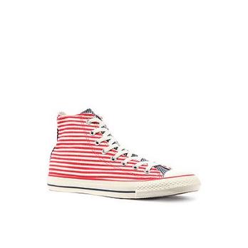 男士红色/白色布鞋