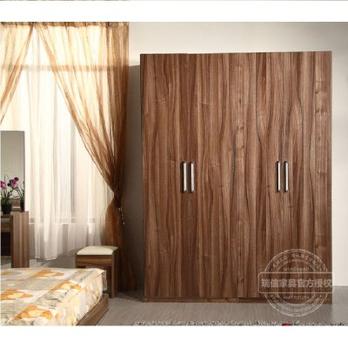 瑞信家具整体木质衣柜 三门四门五门六门平拉
