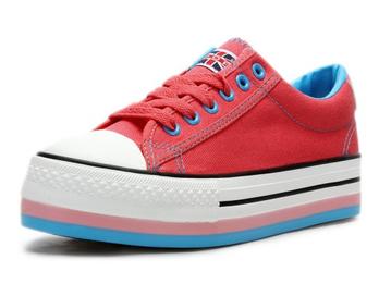 双星 女帆布鞋 红色 1vxwsrb67