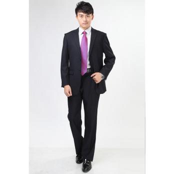 皮尔卡丹男士黑色西服 2扣西服 男西装 外套西服 裤子 19