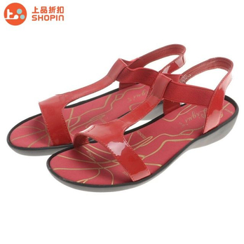 丽贵专柜正品女款真皮凉鞋lg1121-7256