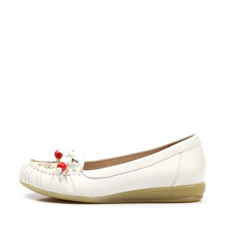 teenmix/天美意2012白色软羊皮女皮鞋