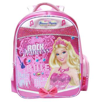 芭比(barbie)芭比娃娃时尚儿童小学生女孩卡通书包