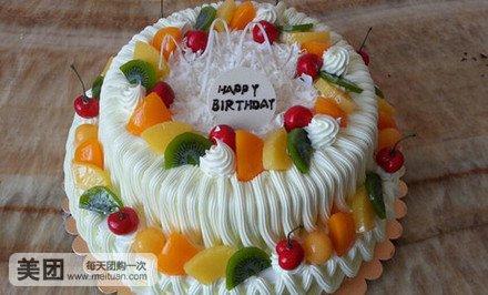 欧式水果双层蛋糕1个,约12英寸