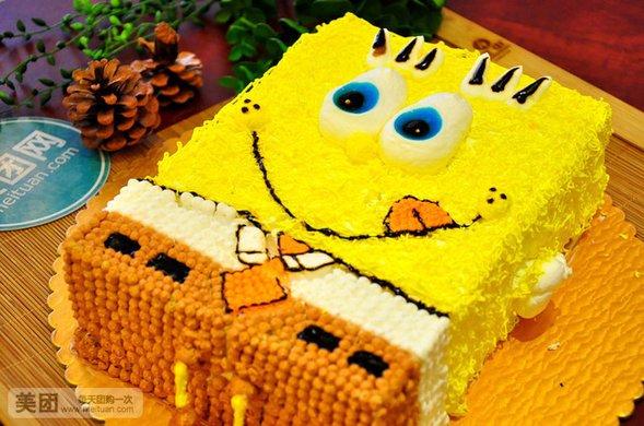 幼儿长方形蛋糕盘画