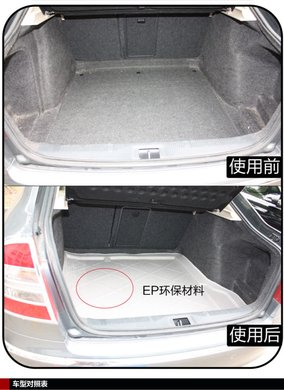 pe环保防水防滑汽车后备箱垫