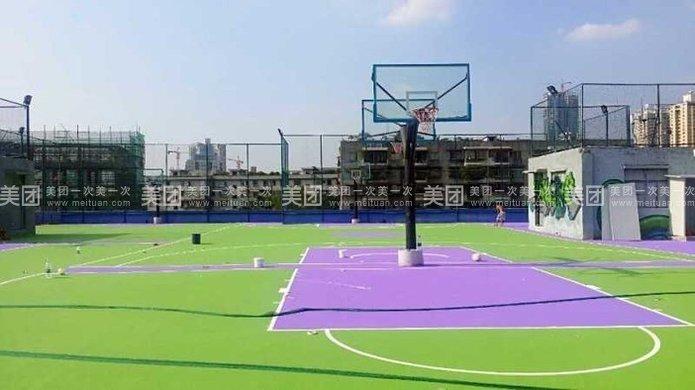 篮球场设计平面图   标准的羽毛球场和半场篮球场!   篮球半