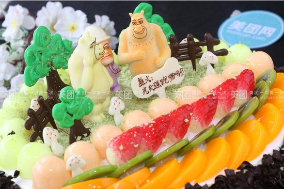 熊出没欧式水果蛋糕1个