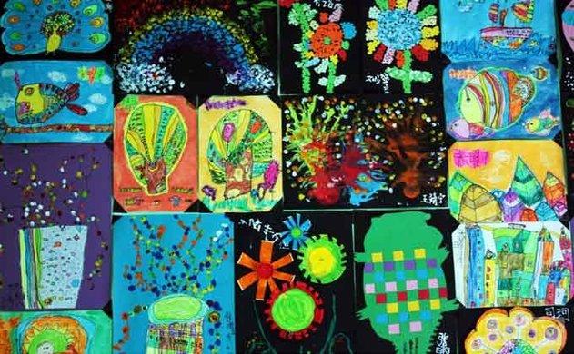 儿童365bet安全码_365bet指定入口_365bet身份验证美术教案 皱纹纸装饰画--《葡萄》教程图片