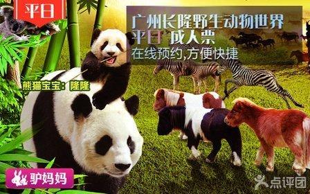 广州长隆野生动物世界平日成人门票