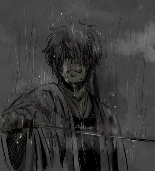 闭眼流泪的伤感图片
