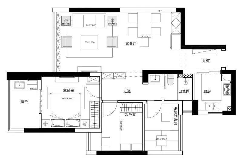 在秦皇岛花费20万打造的112平现代美式新家,刚搬进来住很舒适