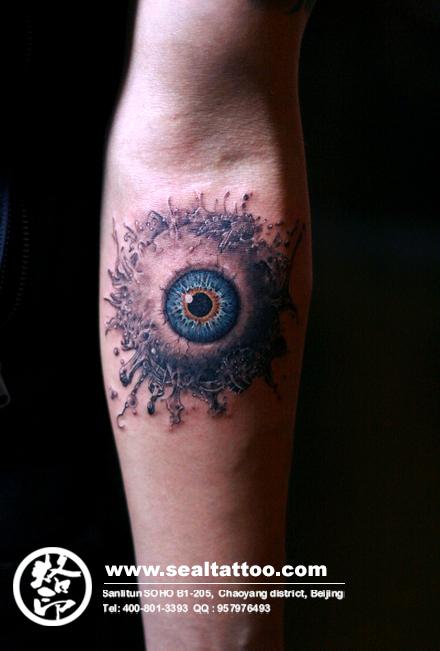烙印刺青纹身作品-3d纹身