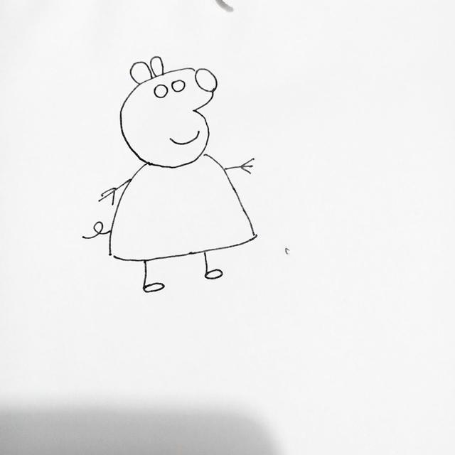 幼儿创意简笔画 小猪佩奇,一点都不难哦!