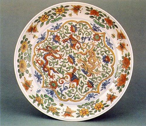 瓷器手绘造型勾勒图
