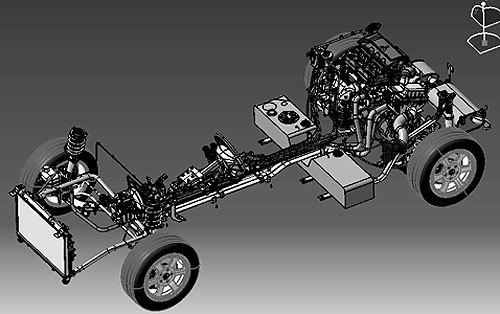 四驱车底盘设计图
