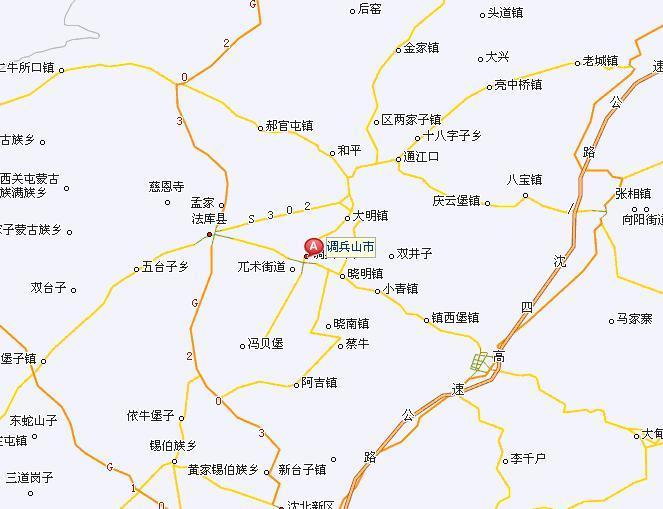 调兵山市地图