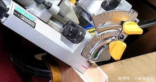 即可用饼干榫机来锯出榫槽