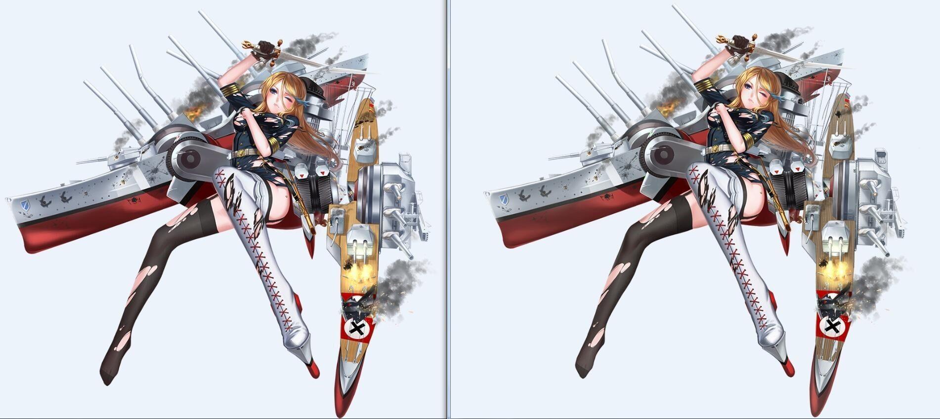 《战舰少女R》沙恩立绘修正
