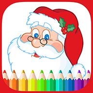 精选的各色圣诞节主题儿童简笔画以及雪景图