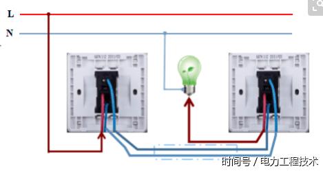 两地控制一盏灯?双联开关如何接线?
