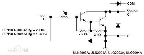 uln2003a是一个7路反向器电路,即当输入端为高电平时uln2003a输出端为