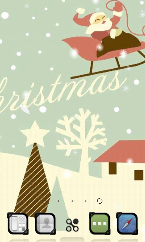 彩画圣诞节动态壁纸