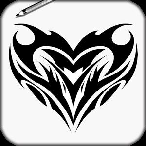 右边是显示的步骤我会采取以想出了一个简单但非常有效,专业的纹身.