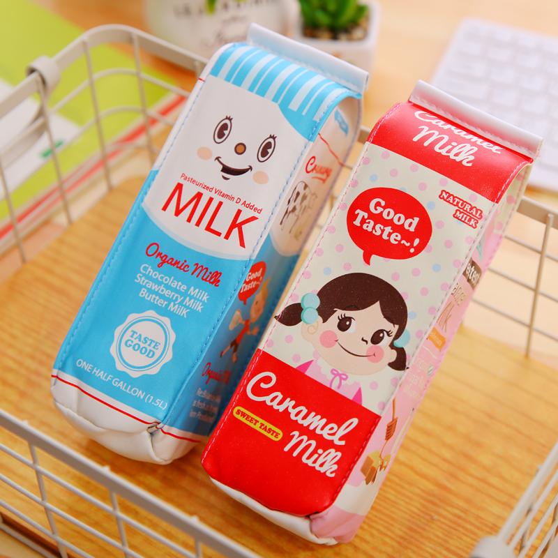 【创意文具袋】大容量超仿真牛奶盒笔袋特价