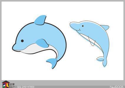 手抄报上的可爱海豚怎么画