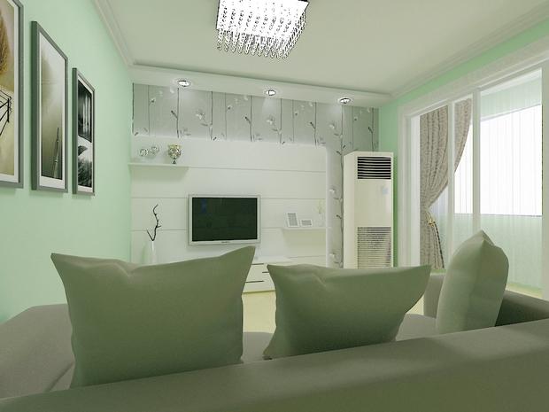 电视背景墙是石膏板造型