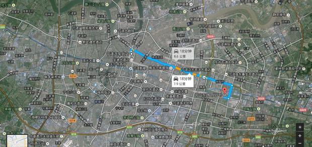 宁波汽车站到宁波市江东区中山东路1999号怎么走