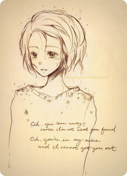 漫画人物图片女生素描,可爱动漫简单素描少女,唯美素描漫画图片大全