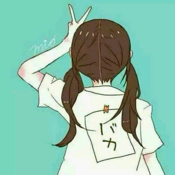 求扎双马尾的卡通女孩背影头像!要背影!像这样的