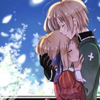 求QQ动漫意境的情侣头像,是两个人在一张图里的那种