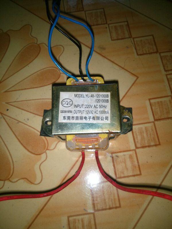 这个12v变压器有正负极之分吗 具体是哪根线 【两根红色是接220v电的