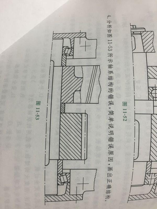 机械设计 轴系结构改错 如图上面的题
