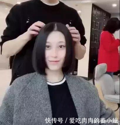 网友切大妈公主剪法,国字脸发型剪完,短发:原来雅安剪短发哪家剪得好图片
