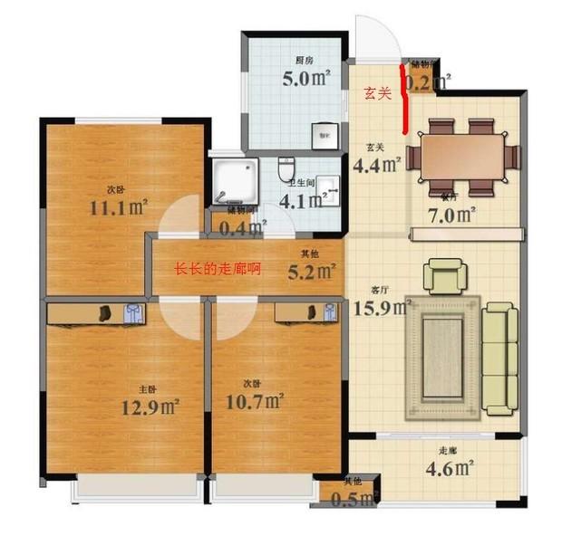 走廊平房平面设计图