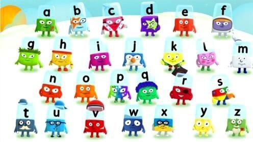 个字母的彩色图片就是bbc的alphablocks中26个小写字母单独的彩色图片
