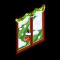 圣诞节 透明玻璃门.png