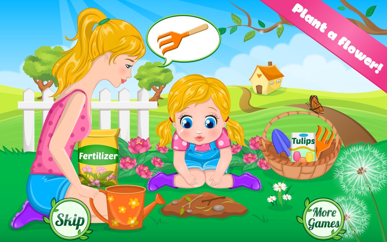 艾利的小宝贝女儿非常高兴她能够在外面玩儿并且享受美好的天气。但你不知道的是艾利的宝贝非常喜欢园艺而且她最喜欢的花是郁金香。所以,她决定和她的妈妈一起,在她的后院里种一些。首先你需要在地上挖一个洞并且种上郁金香的种子。不要忘记给它施肥和浇水!艾利将在这儿指导你的每一步。当欣赏美丽的花朵,但是小女孩开始感觉不舒服,哦不!看起来她对花粉过敏。你能帮艾莉治疗过敏,使宝宝感觉好一些吗?你需要给她一个氧气罩使得她的呼吸顺畅。给她鼻腔喷雾剂和眼药水,这样眼睛就不再流泪了。并且,给她涂治疗全身过敏的过敏霜,那么过敏的治疗